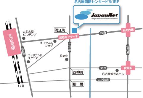 本社への地図